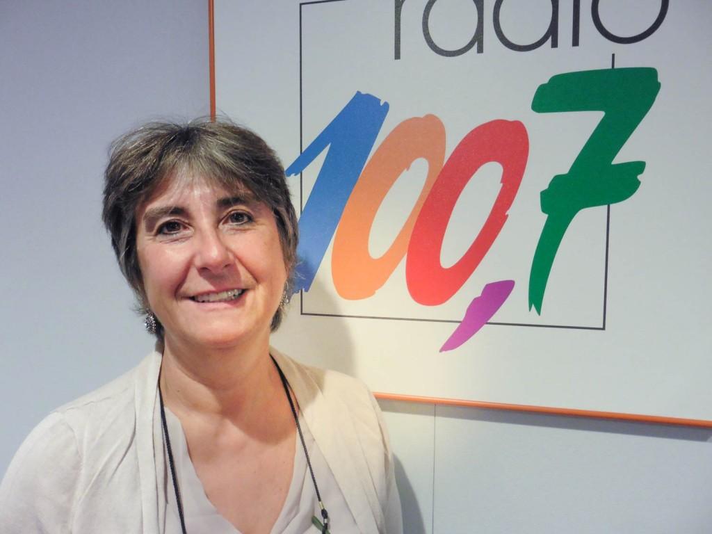 Laura Zuccoli am 100,7-Studio