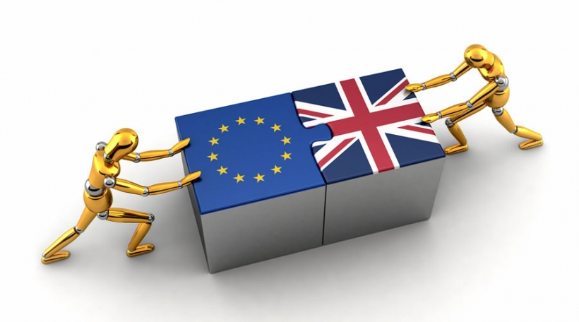 Political or financial concept of the European Union struggling and finding a solution with the Unit