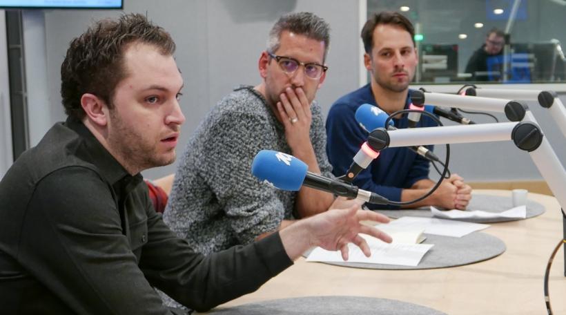 v.l.n.r. Thierry Besseling, Loïc Tanson, Rui Eduardo Abreu