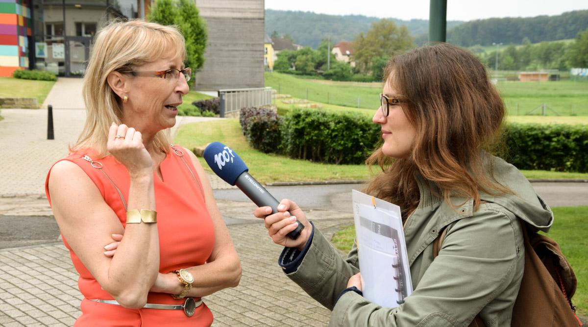D'Diane Duhr am Gespréich mam Tessy Steffen-Koenig © MENJE