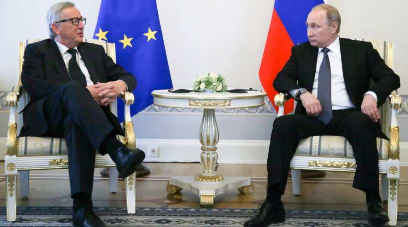 De russesche President Putin mam EU-Komissiounspresident Juncker