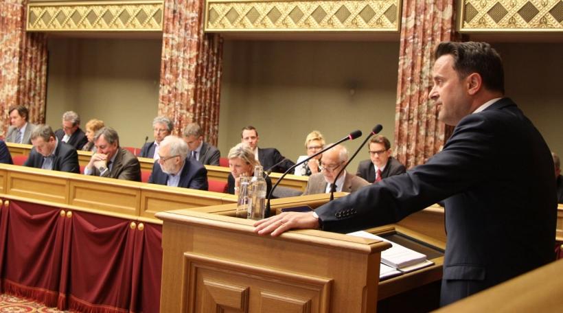 Xavier Bettel an der Chamber