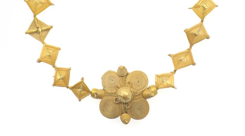 StrohGold Halsband, guinda maé