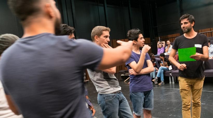 Den Theateratelier mam Bassam Ghazi