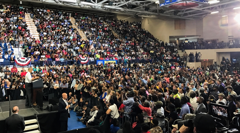 Barack Obama an North Carolina