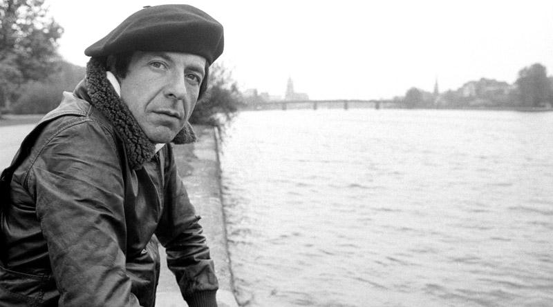 De kanadische Sänger Leonard Cohen 1976 zu Frankfurt