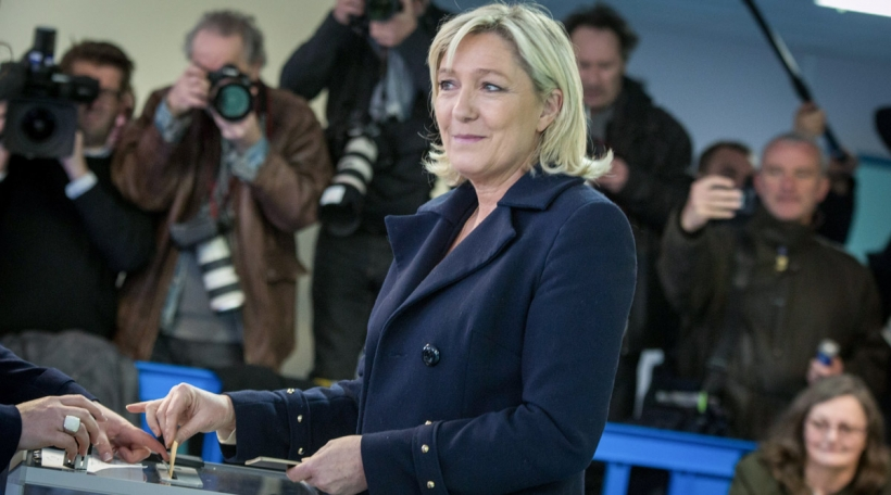 Marine Le Pen zu Henin beaumont (Photo by Michael Bunel/NurPhoto)