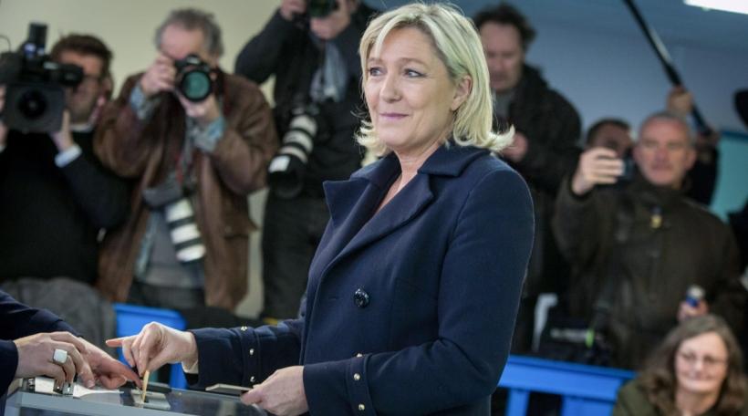 Marine Le Pen zu Henin beaumont (Photo by Michael Bunel/NurPhoto)