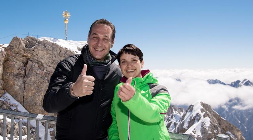 Heinz-Christian Strache (FPÖ) a Frauke Petry (AfD)