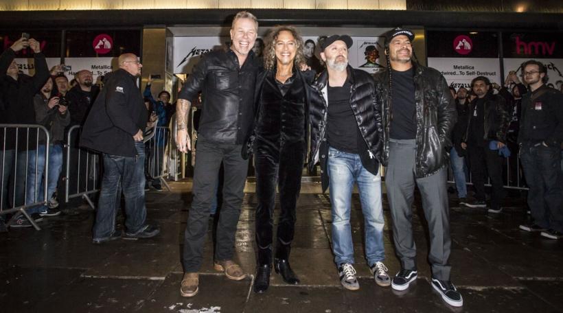 James Hetfield, Kirk Hammett, Lars Ulrich a Robert Trujillo