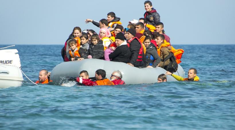 Flüchtlinge kommen op der griichescher Küst un