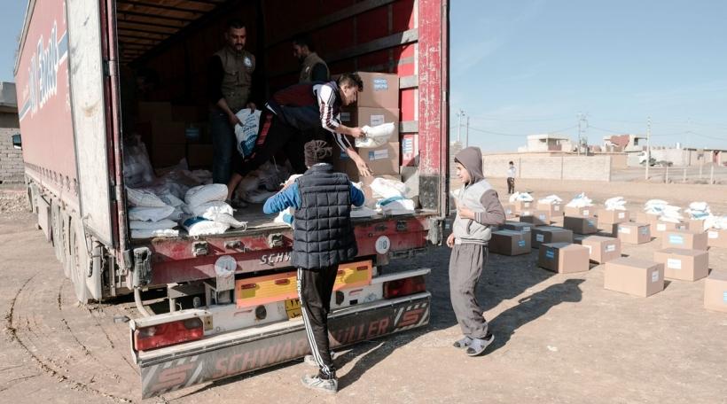 Humanitär Hëllef zu Wardak am Irak