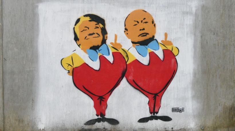 Trump Putin Graffiti