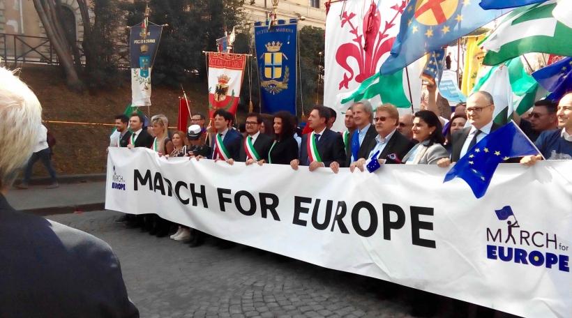 Pro-EU-Manif zu Roum