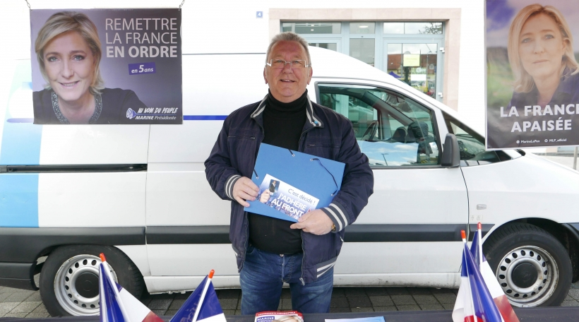 De laangjärege FN-Member a fréieren Eisebunner Bernard Janvier um Maart zu Forbach.