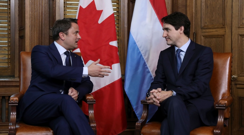 Xavier Bettel a Justin Trudeau