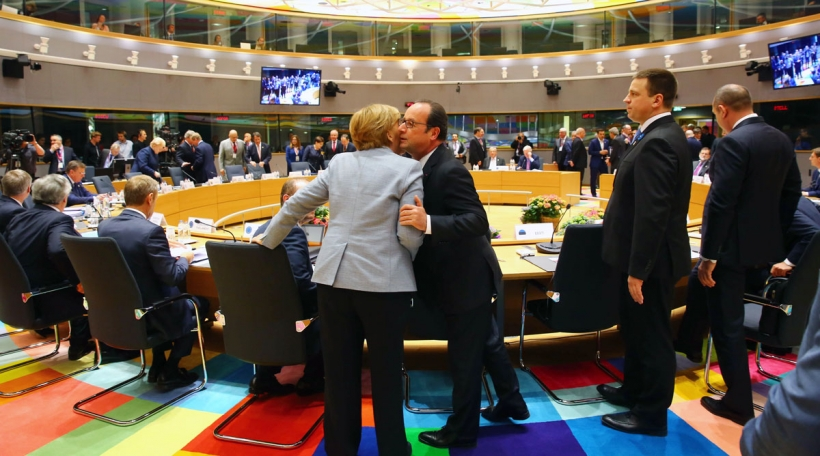 Merkel an Hollande