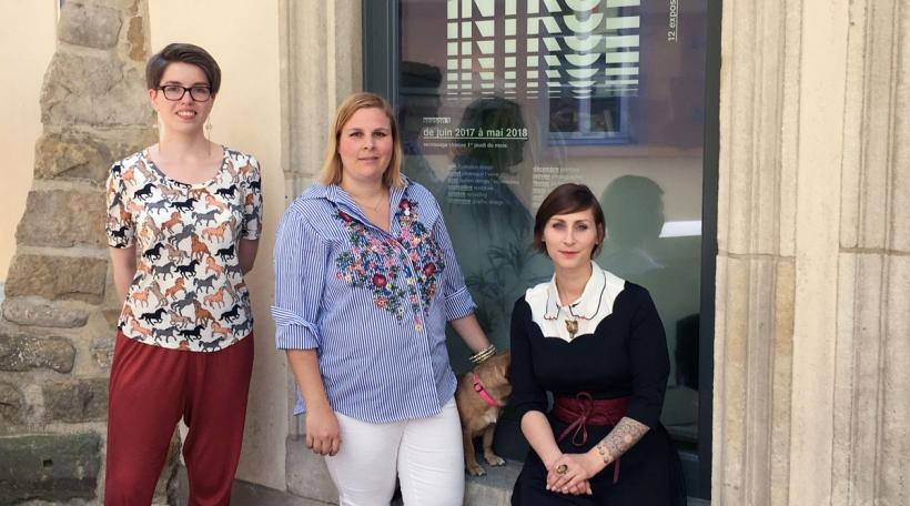 Marion Dengler, Sophie Dewalque, Sandra Biewers virum Konschthaus beim Engel