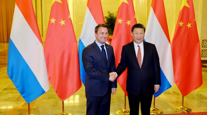 Xavier Bettel beim chinesesche President Xi Jinping