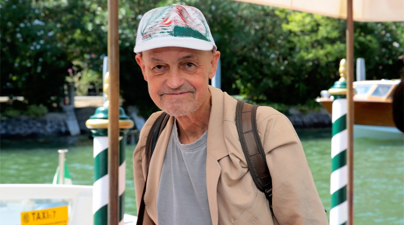 Jury president Jonathan Demme arrive at the Hotel Excelsior