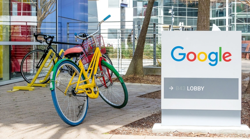 Bei Google zu Mountainview, Kalifornien