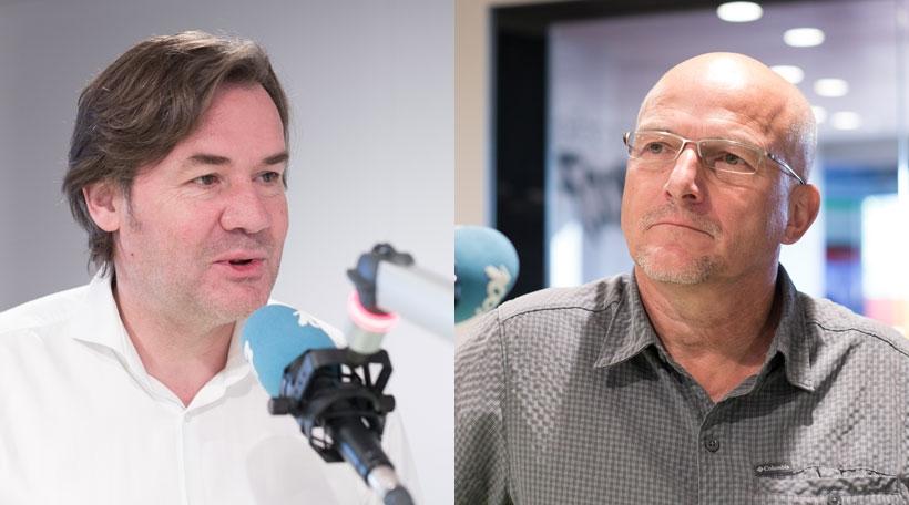 Marc Lies (CSV) a Roland Tex (déi Gréng)