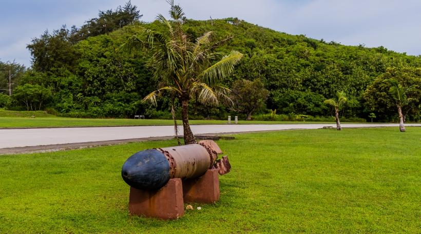Torpedo aus dem 2. Weltkrich op der Insel Guam