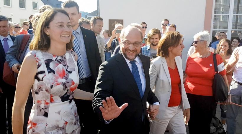 Den SPD Kanzlerkandidat Martin Schulz