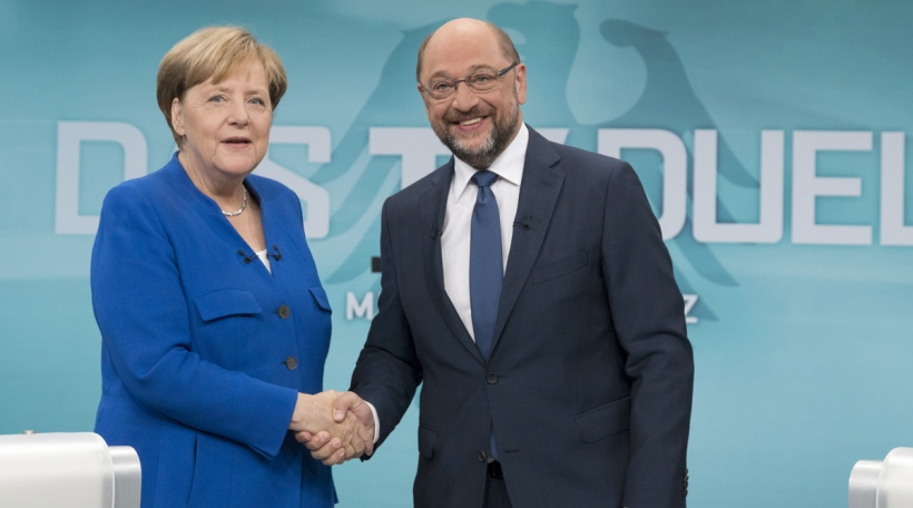 Angela Merkel a MArtin Schulz
