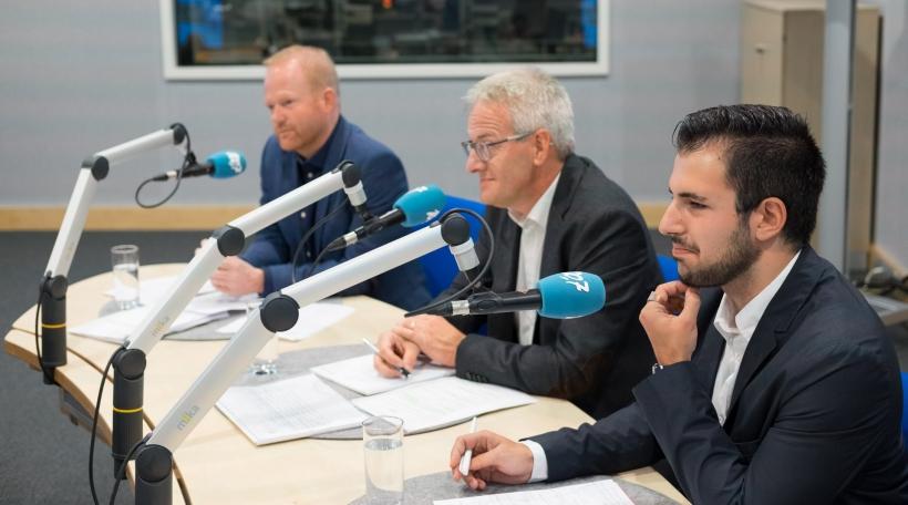 V.l.n.r.: De Claude Lamberty (DP), den Yves Wengler (CSV), an de Gilles Carlizzi (ADR).