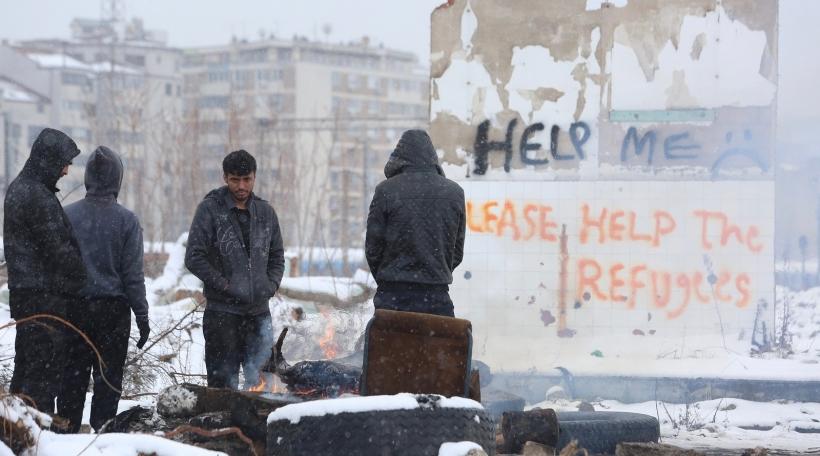 Flüchtlingen zu Belgrad