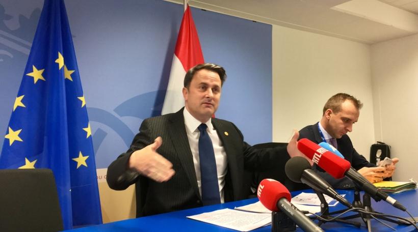 Xavier Bettel um EU-Sommet