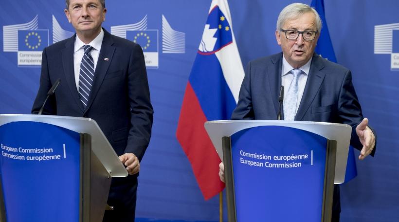 Jean-Claude Juncker, Borut Pahor