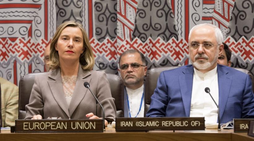 EU Chefdiplomatin Federica Mogherini an irnaeschen Ausseminister Mohammad Javad Zarif