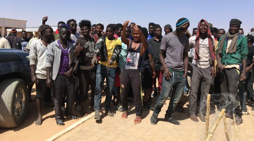 Flüchtlingen Lybien