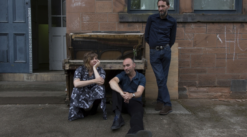 Alasdair Roberts, Amble Skuse and David McGuinness at Kinning Park in Glasgow in August 2017