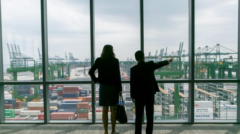 EU Kommissärin Cecilia Malmström zu Singapore