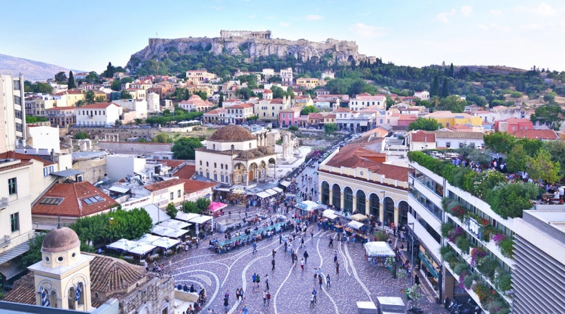 E Bléck op d'Akropolis.