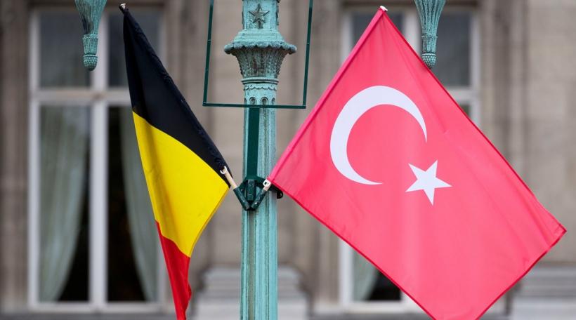 Drapeau Belgique-Turquie