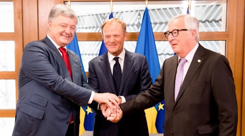 Jean-Claude Juncker, Petro Porochenko, Donald Tusk