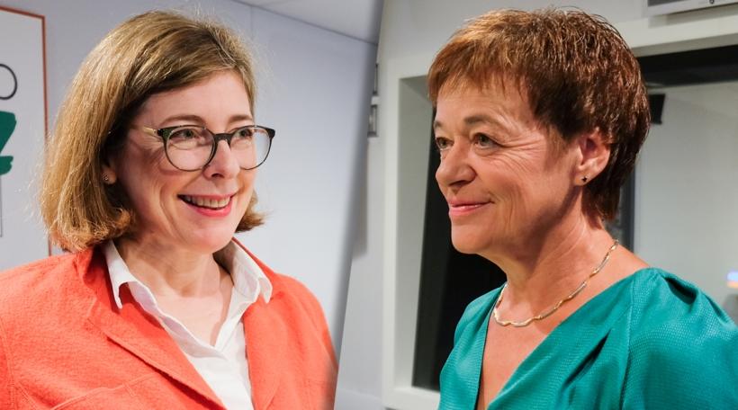 Sylvie Mischel (ADR) a Josée Lorsché (déi gréng)