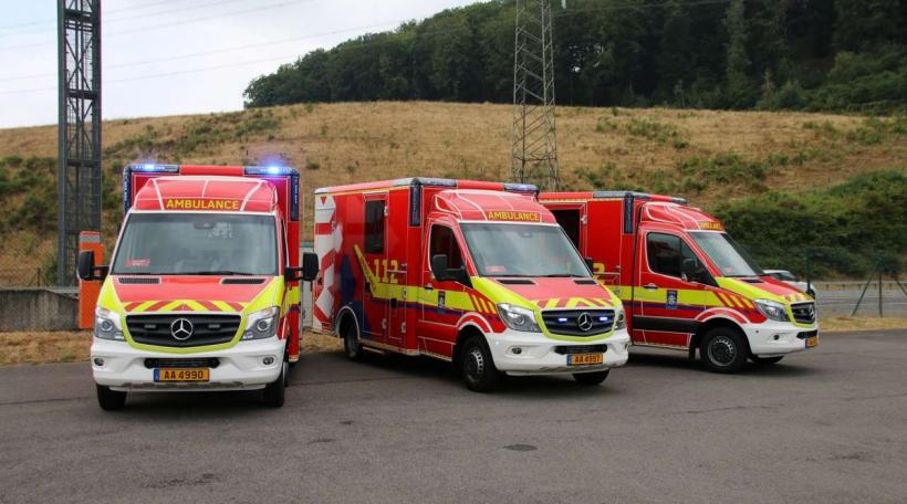 Den nei Ambulanze vum CGDIS