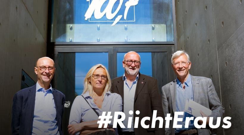 Riicht Eraus: Michel Wurth, Blance Weber, André Roeltgen, Rolf Tarrach