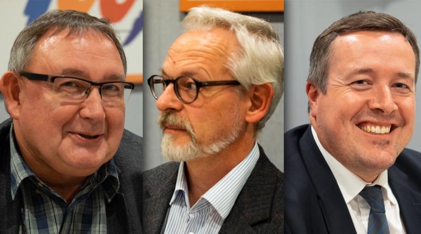 Vu lénks no riets: Pol Scholer, Pol Schmoetten, Marc Meyers