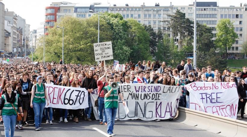 Schülerstreik géint Gesetzesprojet 6670