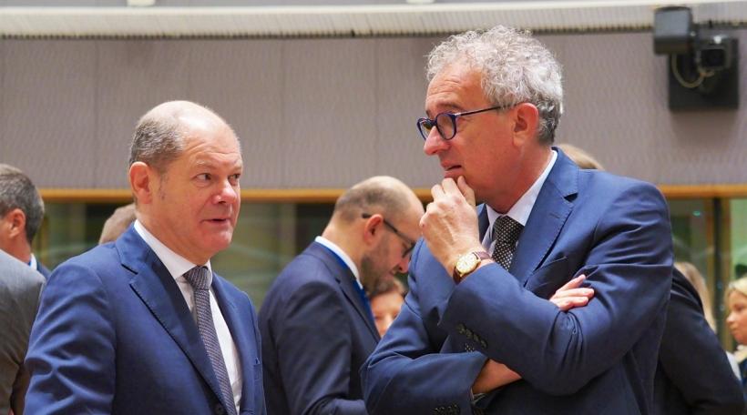 Den däitsche Finanzminister Olaf Scholz (SPD) an de Pierre Gramegna (DP)