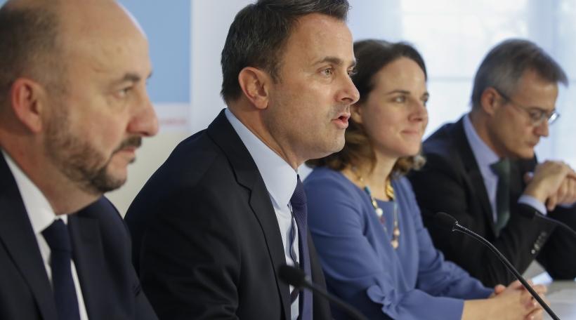 Den Etienne Schneider, de Xavier Bettel, d'Corinne Cahen an de Félix Braz.