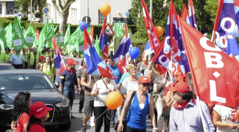 Manifestatioun-OGBL-LCGB