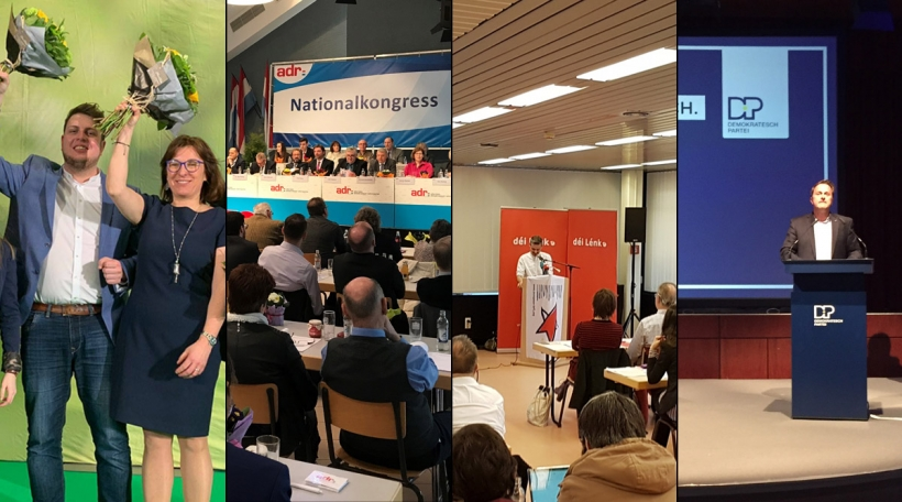 Parteikongresser fir d'Europawahlen