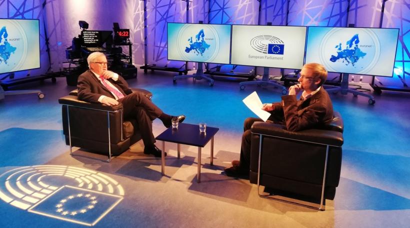 De Jean-Claude Juncker am Interview mam 100,7-Chefredakter Jean-Claude Franck